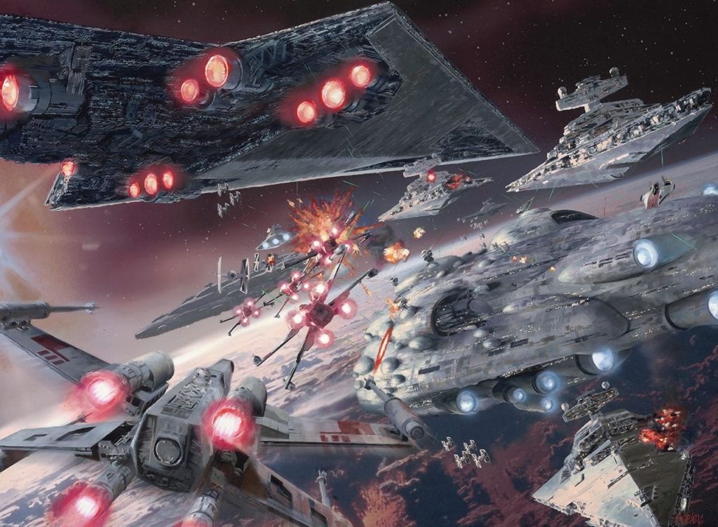 artwork star wars de bataille spatiale