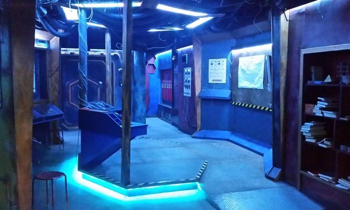 Escape room avec une décoration de science fiction
